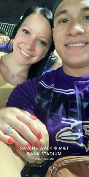 Jerrica attended Baltimore Ravens vs. Green Bay Packers - NFL on Aug 15th 2019 via VetTix
