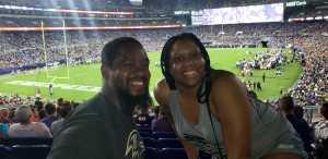 SHERVELL attended Baltimore Ravens vs. Green Bay Packers - NFL on Aug 15th 2019 via VetTix