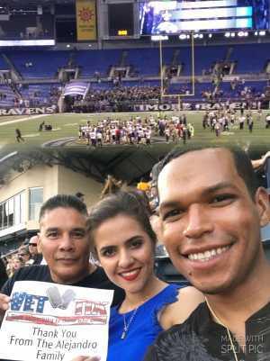 SSG MARCELINO attended Baltimore Ravens vs. Green Bay Packers - NFL on Aug 15th 2019 via VetTix