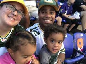 Michelle attended Baltimore Ravens vs. Green Bay Packers - NFL on Aug 15th 2019 via VetTix