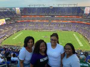 Nyisha attended Baltimore Ravens vs. Green Bay Packers - NFL on Aug 15th 2019 via VetTix