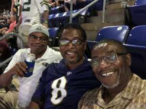Kenneth W. attended Baltimore Ravens vs. Green Bay Packers - NFL on Aug 15th 2019 via VetTix