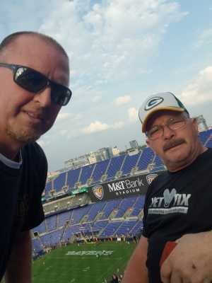 Bernard attended Baltimore Ravens vs. Green Bay Packers - NFL on Aug 15th 2019 via VetTix