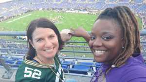 Heather attended Baltimore Ravens vs. Green Bay Packers - NFL on Aug 15th 2019 via VetTix