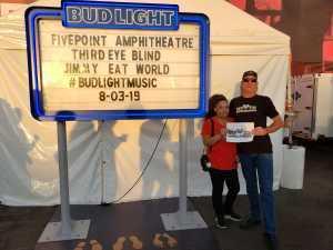 Kevin attended Third Eye Blind on Aug 3rd 2019 via VetTix
