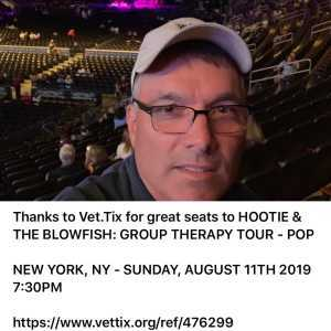 BRIAN attended Hootie & the Blowfish: Group Therapy Tour - Pop on Aug 11th 2019 via VetTix