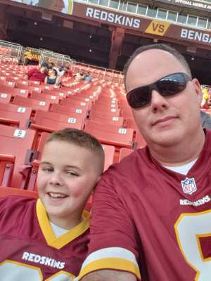 Eric attended Washington Redskins vs. Cincinnati Bengals - NFL on Aug 15th 2019 via VetTix