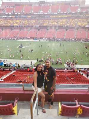 Cleveland Family attended Washington Redskins vs. Cincinnati Bengals - NFL on Aug 15th 2019 via VetTix