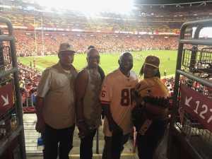 Tracy attended Washington Redskins vs. Cincinnati Bengals - NFL on Aug 15th 2019 via VetTix