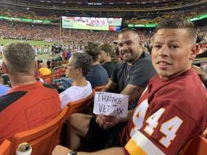 Travis attended Washington Redskins vs. Cincinnati Bengals - NFL on Aug 15th 2019 via VetTix