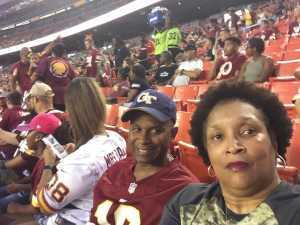 Angela attended Washington Redskins vs. Cincinnati Bengals - NFL on Aug 15th 2019 via VetTix