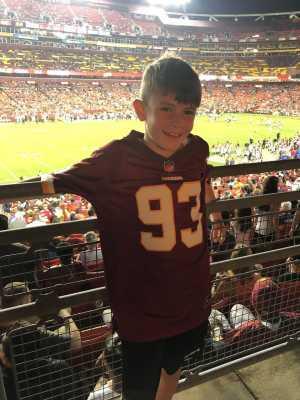 Jamie attended Washington Redskins vs. Cincinnati Bengals - NFL on Aug 15th 2019 via VetTix