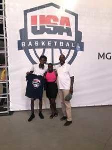 Roxanne attended Blue vs. White - USA Men's Basketball Exhibition on Aug 9th 2019 via VetTix