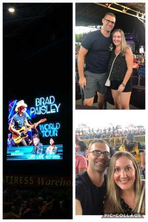 gillen attended Brad Paisley Tour 2019 - Country on Aug 10th 2019 via VetTix