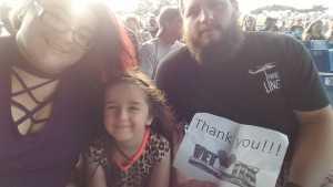 Glenn attended Brad Paisley Tour 2019 - Country on Aug 10th 2019 via VetTix