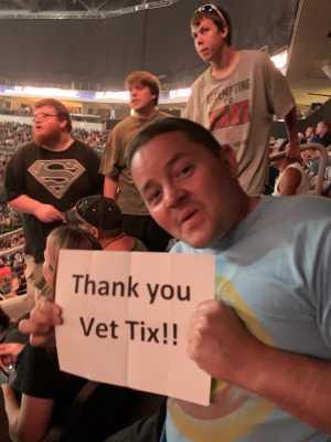 Freeman attended WWE Smackdown Live! - Denny Sanford PREMIER Center on Aug 20th 2019 via VetTix
