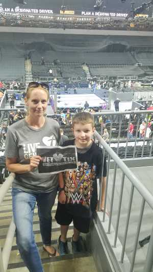 Andy and Amy Anderson attended WWE Smackdown Live! - Denny Sanford PREMIER Center on Aug 20th 2019 via VetTix