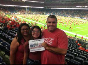 Alvis attended Advocare Texas Kickoff - University of Houston Cougars vs. Washington State University Cougars - NCAA Football on Sep 13th 2019 via VetTix
