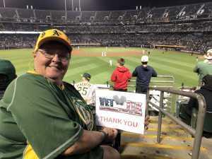 Patricia attended Oakland Athletics vs. New York Yankees - MLB on Aug 22nd 2019 via VetTix