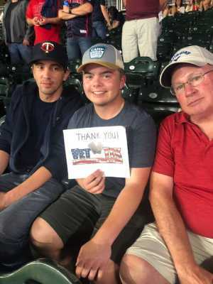 Pete attended Minnesota Twins vs. Washington Nationals - MLB on Sep 10th 2019 via VetTix