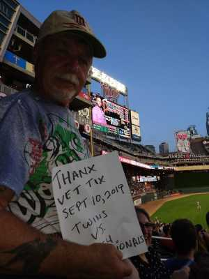 Mike attended Minnesota Twins vs. Washington Nationals - MLB on Sep 10th 2019 via VetTix