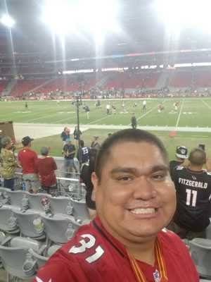 Emilio attended Arizona Cardinals vs. Oakland Raiders - NFL Preseason on Aug 15th 2019 via VetTix