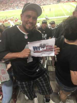 jesus attended Arizona Cardinals vs. Oakland Raiders - NFL Preseason on Aug 15th 2019 via VetTix