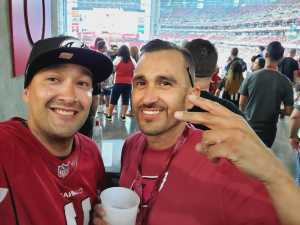 Mauricio Andre attended Arizona Cardinals vs. Oakland Raiders - NFL Preseason on Aug 15th 2019 via VetTix