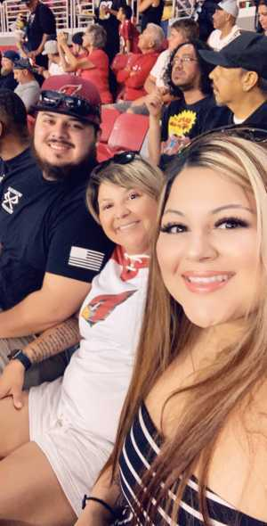 Lisa attended Arizona Cardinals vs. Oakland Raiders - NFL Preseason on Aug 15th 2019 via VetTix