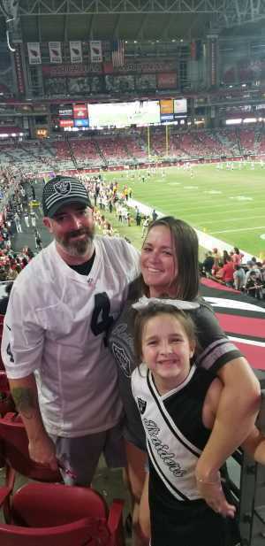 Scott attended Arizona Cardinals vs. Oakland Raiders - NFL Preseason on Aug 15th 2019 via VetTix