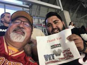Mark attended Arizona Cardinals vs. Oakland Raiders - NFL Preseason on Aug 15th 2019 via VetTix