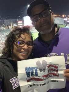 MeeLondrell attended Colorado Rockies vs. St. Louis Cardinals - MLB on Sep 11th 2019 via VetTix