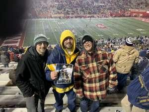 Andy attended Indiana Hoosiers vs. Michigan - NCAA Football on Nov 23rd 2019 via VetTix
