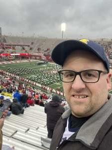 Eric attended Indiana Hoosiers vs. Michigan - NCAA Football on Nov 23rd 2019 via VetTix