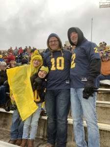 Joshua attended Indiana Hoosiers vs. Michigan - NCAA Football on Nov 23rd 2019 via VetTix
