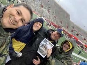 Joseph attended Indiana Hoosiers vs. Michigan - NCAA Football on Nov 23rd 2019 via VetTix