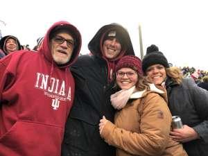 Nate attended Indiana Hoosiers vs. Michigan - NCAA Football on Nov 23rd 2019 via VetTix