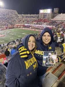 Erika attended Indiana Hoosiers vs. Michigan - NCAA Football on Nov 23rd 2019 via VetTix