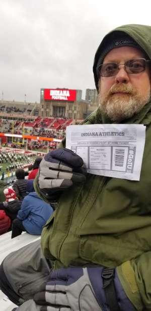 WILLIAM attended Indiana Hoosiers vs. Michigan - NCAA Football on Nov 23rd 2019 via VetTix