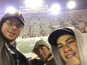 Andrew attended Indiana Hoosiers vs. Michigan - NCAA Football on Nov 23rd 2019 via VetTix