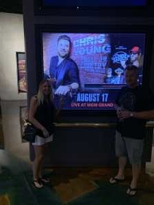 Jeri attended Chris Young: Raised on Country Tour on Aug 17th 2019 via VetTix