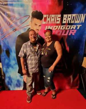 Eddie and Vee attended Chris Brown - Indigoat Tour 2019 - R&b on Aug 21st 2019 via VetTix