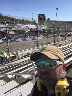 Dustin attended Fall First Data 500 - Monster Energy NASCAR Cup Series on Oct 27th 2019 via VetTix