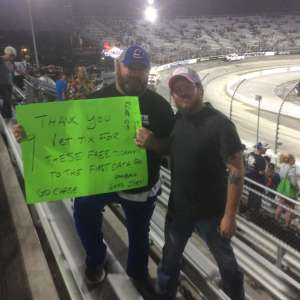 Lloyd attended Fall First Data 500 - Monster Energy NASCAR Cup Series on Oct 27th 2019 via VetTix