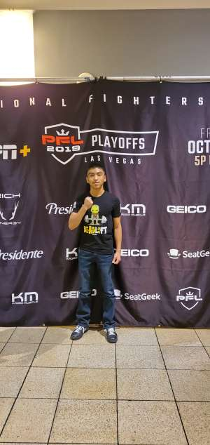 Mario attended 2019 Pfl Playoffs - Live Mixed Martial Arts - Presented by Professional Fighters League on Oct 11th 2019 via VetTix