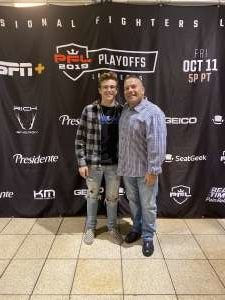Steve attended 2019 Pfl Playoffs - Live Mixed Martial Arts - Presented by Professional Fighters League on Oct 11th 2019 via VetTix