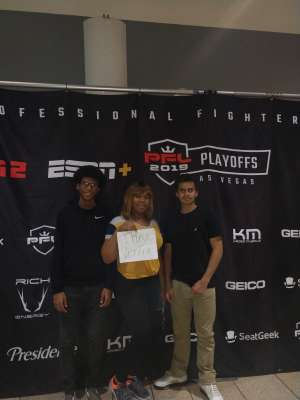 Shimira attended 2019 Pfl Playoffs - Live Mixed Martial Arts - Presented by Professional Fighters League on Oct 11th 2019 via VetTix