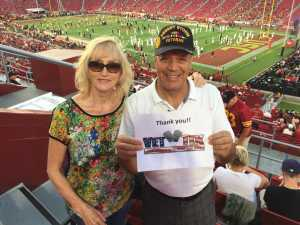 Alexander attended USC Trojans vs. Stanford Cardinal - NCAA Football on Sep 7th 2019 via VetTix