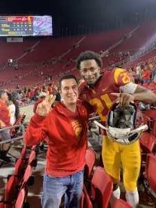 Newton attended USC Trojans vs. Stanford Cardinal - NCAA Football on Sep 7th 2019 via VetTix