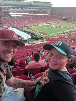 The Millers attended USC Trojans vs. Stanford Cardinal - NCAA Football on Sep 7th 2019 via VetTix